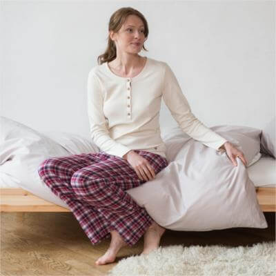 Living Crafts SCHLAFANZUG − Damen-Pyjama ...