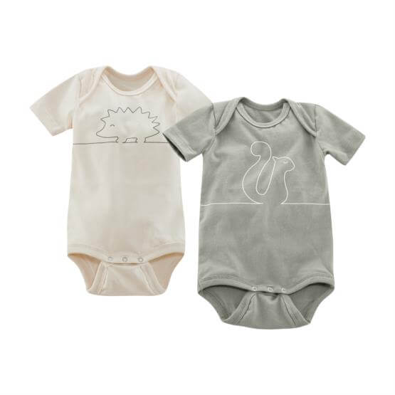 Short-sleeved body, pack of 2